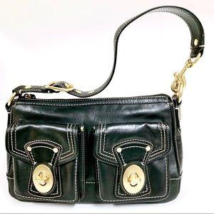 COACH Legacy Leather Black EUC Shoulder Handbag